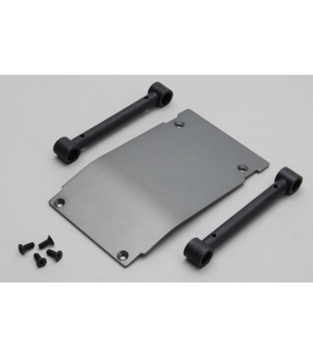 GMADE ALUMINIUM SKID PLATE BLACK FOR GS01 FRONT BUMPER