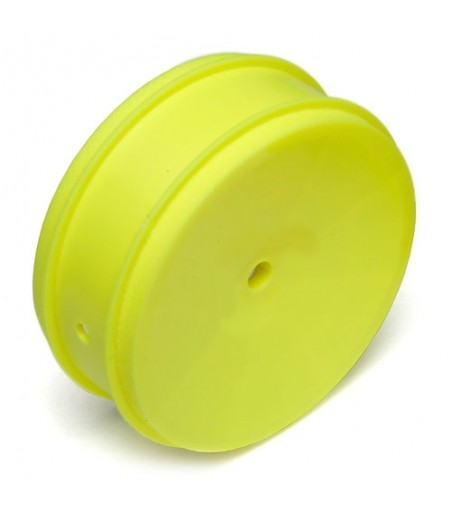"ASSOCIATED 61mm BUGGY FRONT 4WD WHEEL HEX 12mm YELLOW FOR 2.4"" VTR TYPE"