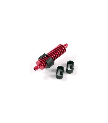 FASTRAX 1/8TH EXHAUST GAS COOLER RED w/MOUNTS