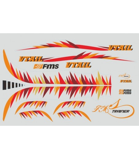 FMS 0.8M V-TAIL STICKER