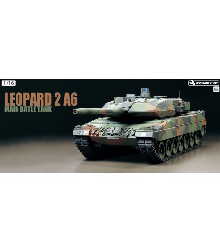 TAMIYA R/C LEOPARD 2 A6 WITH OPTION KIT