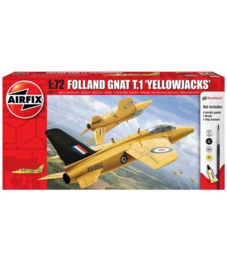 Airfix 1:72 Folland GNAT T.1 Yellowjacks Starter Set - A68213