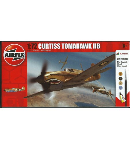 Airfix 1 72 Curtiss Tomahawk IIB Model Aircraft Kit Starter Set