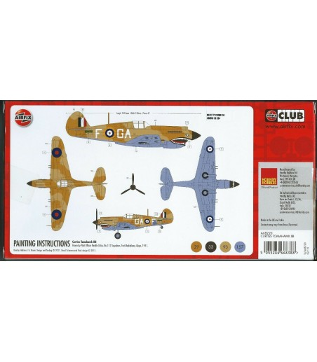 Airfix 1 72 Curtiss Tomahawk IIB Model Aircraft Kit Starter Set 2