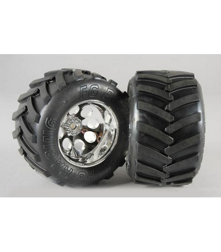 FG Modellsport Wheel/Tyre Monster Trk M (GluedPk2)