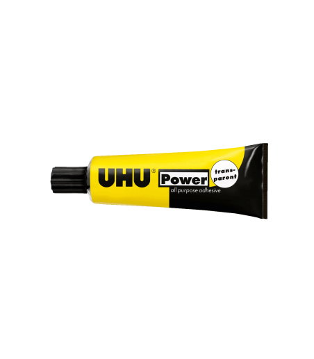 UHU POWER CONTACT GLUE ADHESIVE EXTRA STRONG TRANSPARENT BOND 33ml