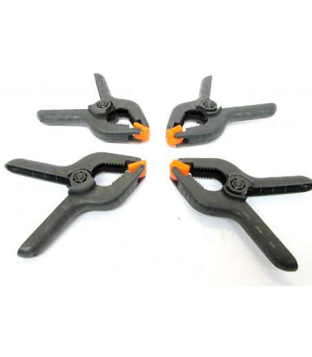 "4PC CLAMP SET / MINI STALL CLIP SET PLASTIC GRIPS 3-1/2"" HOBBY NEW TZ CL112"