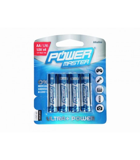 Power Matser AA Super Alkaline Battery LR6 4pk 2