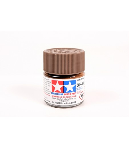 TAMIYA ACRYLIC MINI XF-68 NATO BROWN