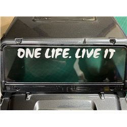 One Life Live It Sticker 115 x 11mm land rover