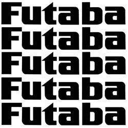 Futaba sticker 62mm x 11mm 5 pack