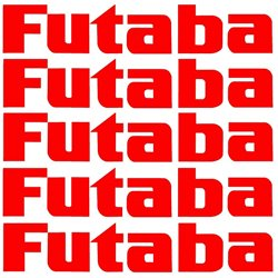 Futaba sticker Red 62mm x 11mm 5 pack