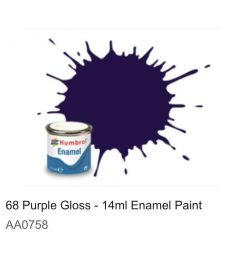 Humbrol No 68 Purple - Gloss - Tinlet No 1 (14ml)
