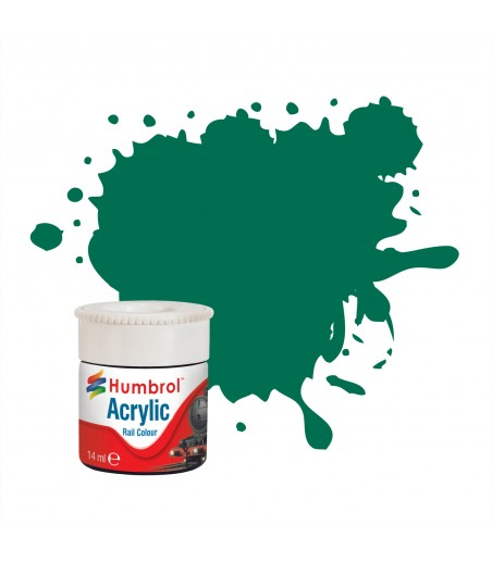 Humbrol Malachite Green RC409 Acrylic Rail Paint