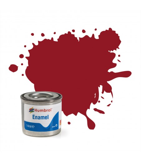 Humbrol 20 Enamel Paint 50ml Gloss Crimson