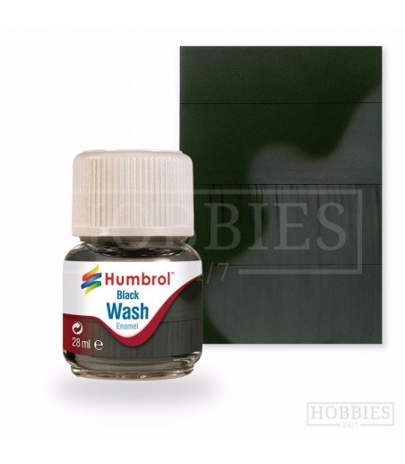 Humbrol 28ml Enamel Wash - Black