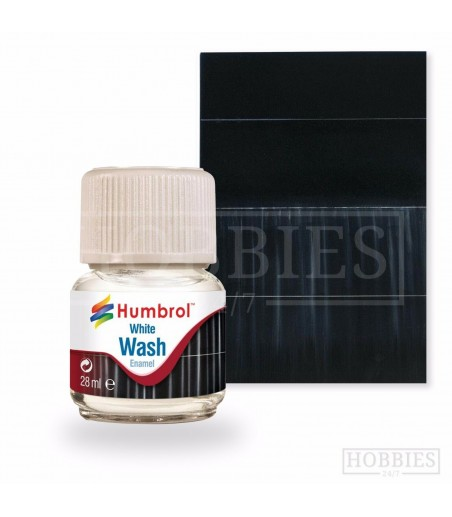 Humbrol 28ml Enamel Wash - White