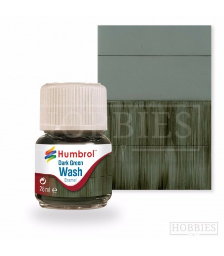 Humbrol 28ml Enamel Wash - Dark Green