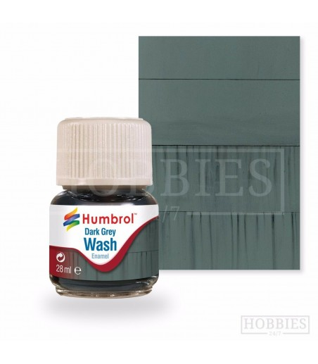 Humbrol 28ml Enamel Wash - Dark Grey