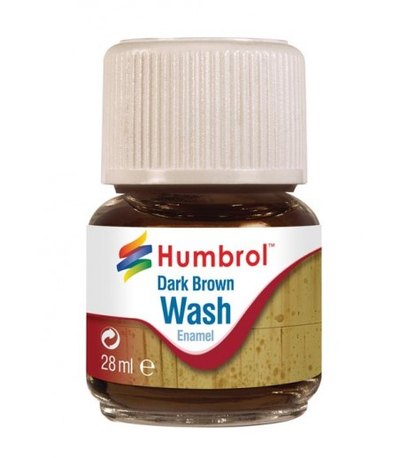Humbrol 28ml Enamel Wash - Dark Brown