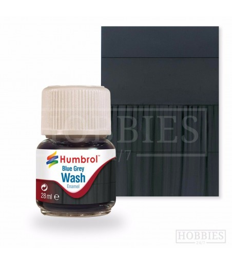 Humbrol 28ml Enamel Wash - Blue Grey