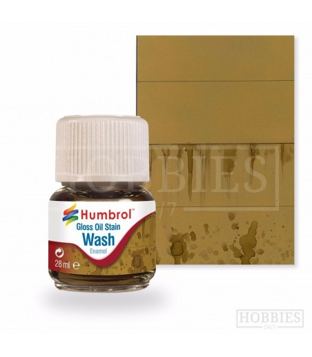 Humbrol 28ml Enamel Wash - Oil Stain