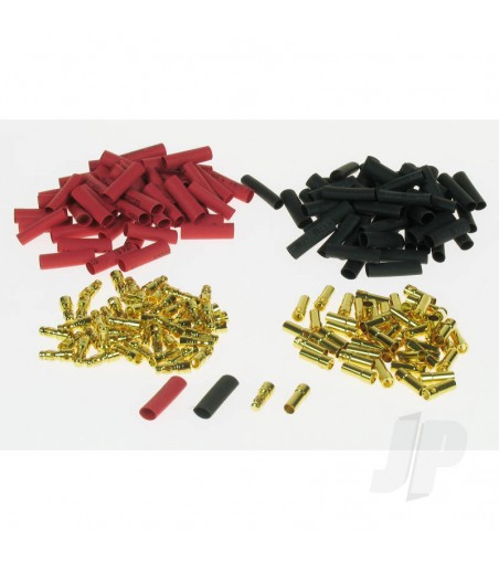 3.5mm Gold Connector Bulk (50 Pairs + Shrink)