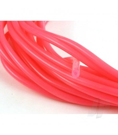 3/32 (2mm) Neon Pink Fuel Tube 1m