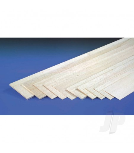 20mm x 100mm x 1m Sheet Balsa