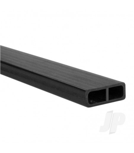 Carbon Fibre Rectangular Tube 6.0mm x 16mm x 1m
