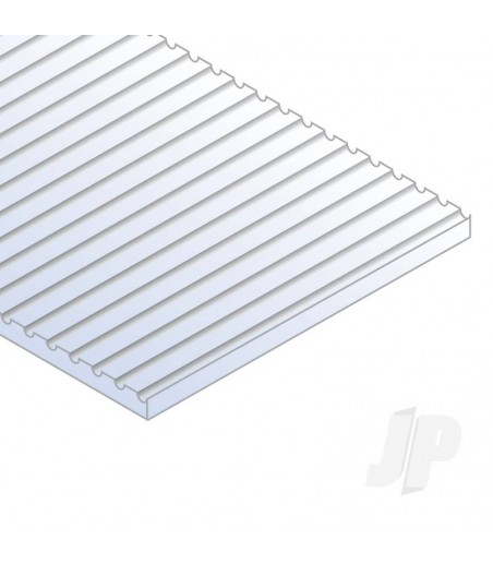 12x24in (30x60cm) HO-Scale Car Siding Sheet .020in (0.50mm) Thick (1 Sheet per pack)