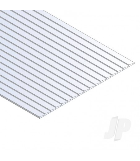12x24in (30x60cm) Clapboard Siding Sheet .040in (1.0mm) Thick .060in Spacing (1 Sheet per pack)