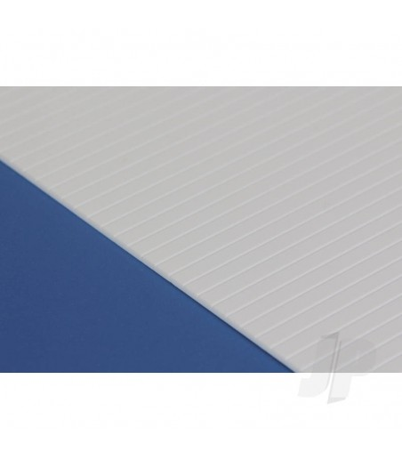 6x12in (15x30cm) V-Groove Siding Sheet .020in (0.50mm) Thick .080in Spacing (1 sheet per pack)