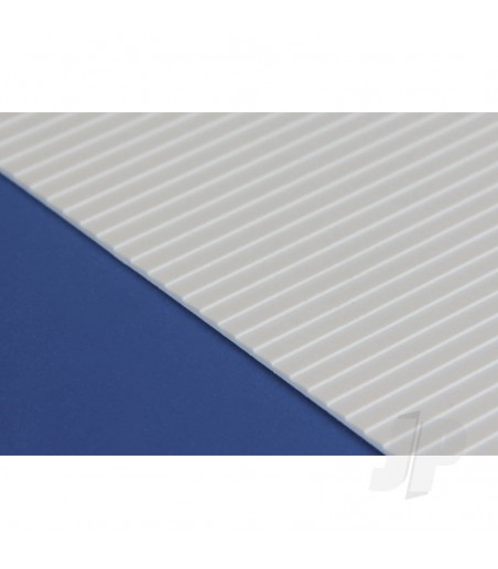 6x12in (15x30cm) Clapboard Siding Sheet .040in (1.0mm) Thick .080in Spacing (1 Sheet per pack)