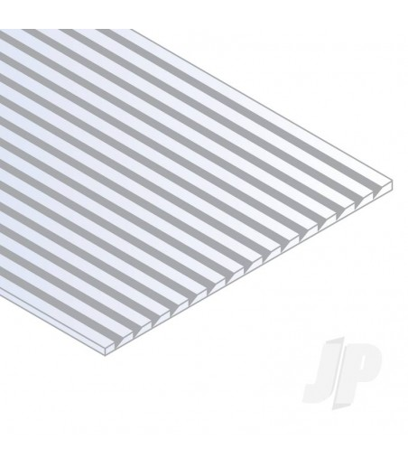 6x12in (15x30cm) Novelty Siding Sheet .040in (1.0mm) Thick .150in Spacing (1 Sheet per pack)