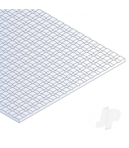 6x12in (15x30cm) Square Tile Sheet .040in (1.0mm) Thick 1/8x1/8in Spacing (1 Sheet per pack)