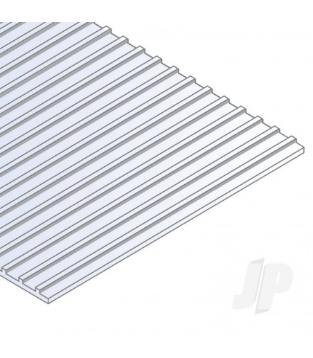 6x12in (15x30cm) Seam Roofing Sheet .040in (1.0mm) Thick 1/2in Groove Spacing (1 Sheet per pack)