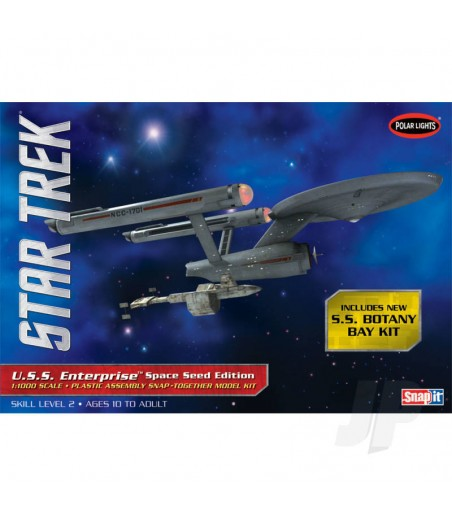 1:1000 Star Trek TOS U.S.S Enterprise Space Seed Edition (Snap Kit)