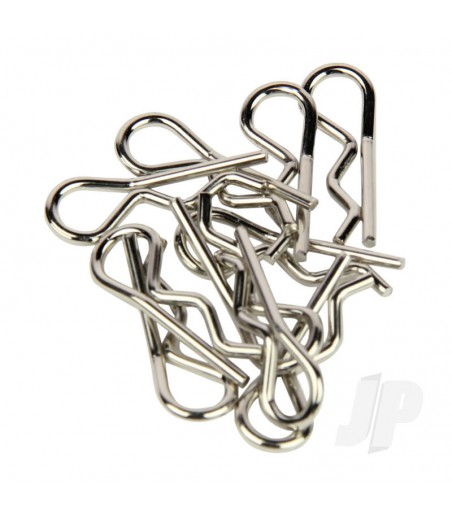 Body Clips, Standard Bent, Silver (10pcs)