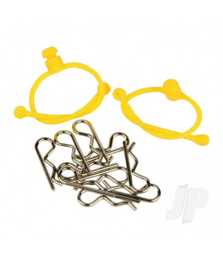 Body Clips (10pcs) with Yellow Retainers (2pcs)