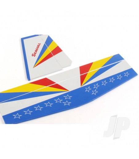 JR Heli Sticker D (White)