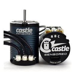 CASTLE MOTOR, 4-POLE SENSORED BRUSHLESS, 1406-3800kV M-CC060-0071-00