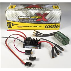 CASTLE Mamba Micro X 1:18th Car ESC W/ 4100kV MOTOR P-CC010-0147-01