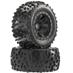 ARRMA Sand Scorpion DB XL Tire/Wheel Blk Re (2)