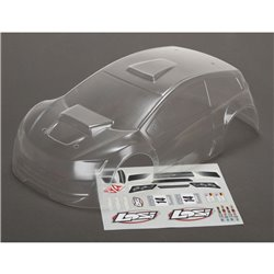 LOS Body Set Clear: 1/14  Mini Rally Z-LOS210007