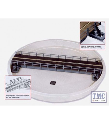 Peco Turntable Kit, well type  (deck length 305mm [12in]) OO/HO Gauge LK-55