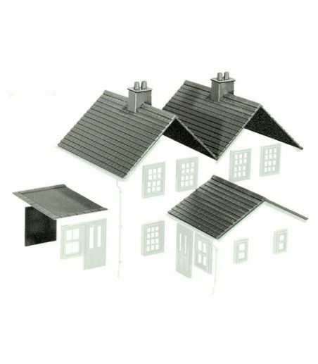 Peco Products LK-79 Kit 2 Slate Roof, ridge tiles, flat roofs