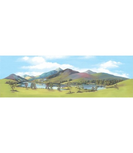 Peco Medium background Mountain Lake 178mm x 559mm (7in x 22in)