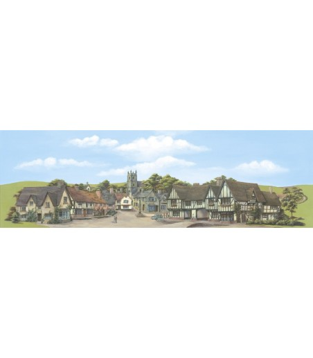Peco Medium background Town, Provincial 178mm x 559mm (7in x 22in)
