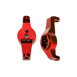 TRAXXAS Caster blocks, 6061-T6 aluminum (red-anodized), left and rig 8232R